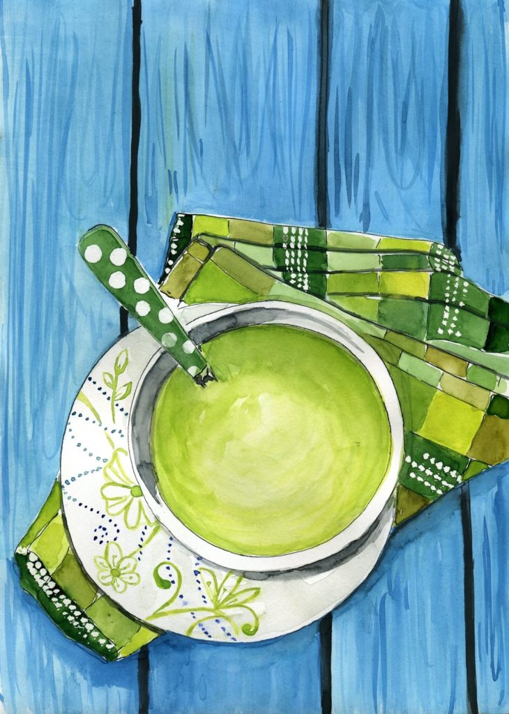 zupa-krem-brukselka-akwarela-ilustracja