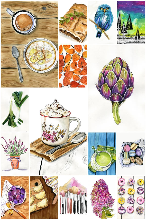 food illustration obrazkowe podsumowanie 2015